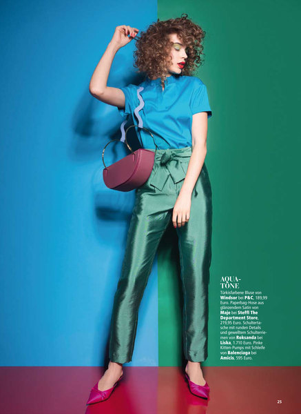 Look Models International - NASTYA rocks the colours for MADONNA ...